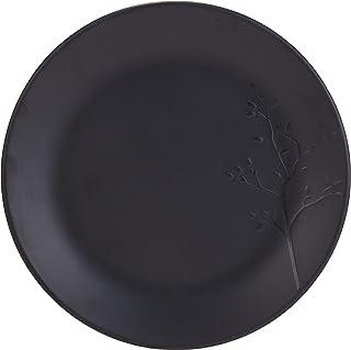 Servewell Melamine Horeca Black Embossed Plate 19cm
