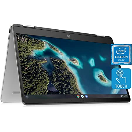 HP Chromebook x360 14a Laptop - Dual Core Intel Celeron N4020 - 4 GB RAM - 32 GB eMMC Storage - 14-inch HD Touchscreen - Google Chrome OS - Lightweight and Long Battery Life (14a-ca0010nr, 2020)