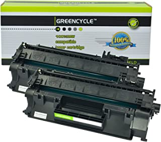 Greencycle High Yield Compatible CE505A 05A Toner Cartridge Replacement Used in HP Laserjet P2035 P2035n P2050 P2055 P2055d P2055dn P2055x Series Printers (Black, 2 Pack)