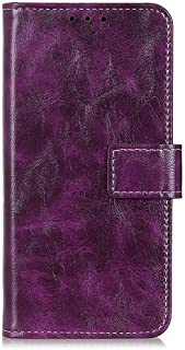 zl one Compatible with/Replacement for Phone Case LG K20 2019 PU Leather Wallet Case Card Slots Flip Cover (Purple)