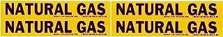 "Brady 7196-4 1-1/8"" Height, 7"" Width, B-946 High Performance Vinyl, Black On Yellow Color Self-Sticking Vinyl Pipe Marker,..."