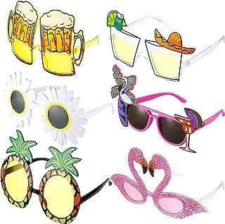 Hawaianas Fiesta Gafas,6 Pares de Gafas de Sol de Fiesta de Novedad Gafas de Sol Tropicales Hawaianas Gafas Fiesta Luau Tr...