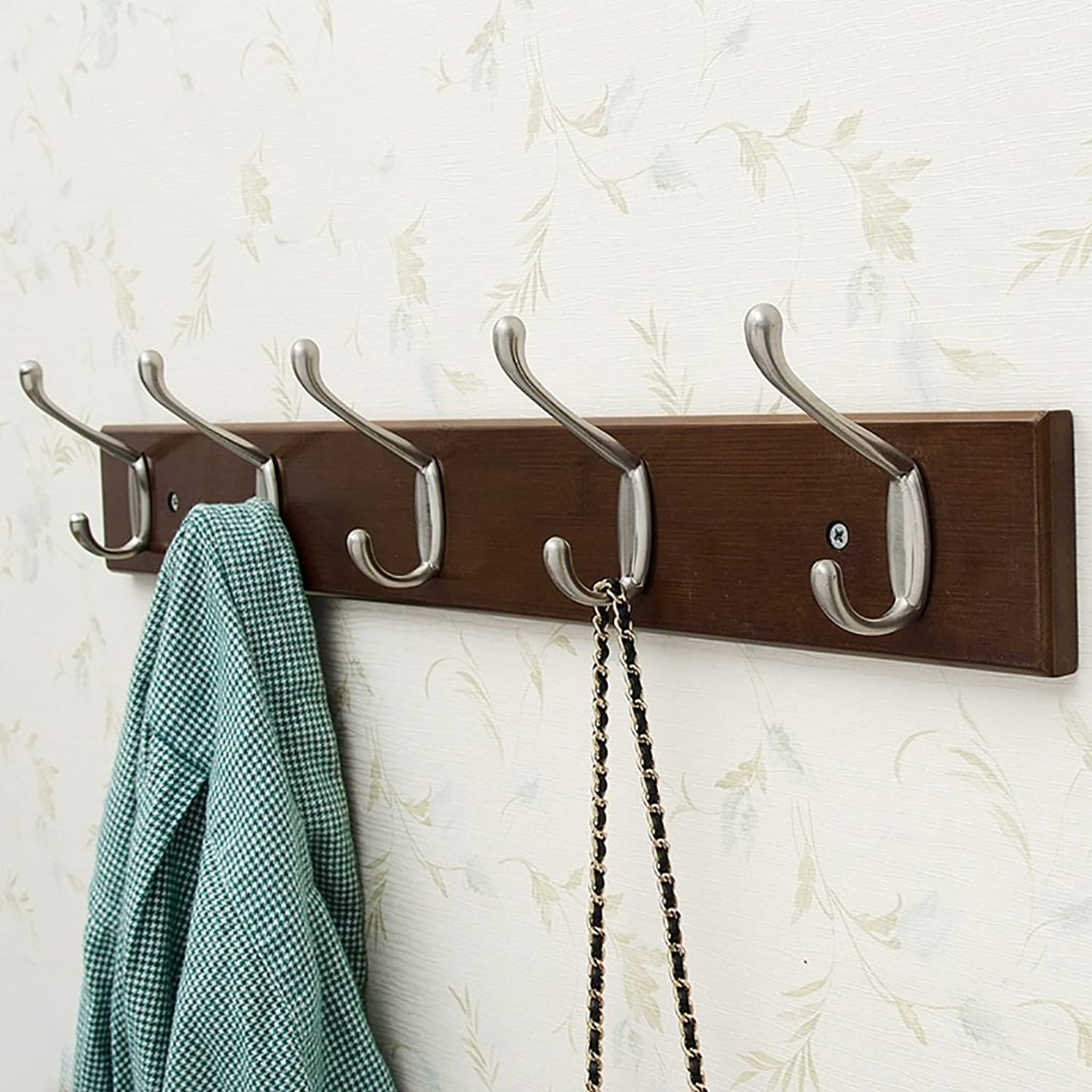 Wall Mounted Coat Rack, Wall-Hung Coat Hooks,Bedroom Living Room Entrance Simple Modern Bamboo System Wall-Mounted Coat Racks (Size   61  1.5  7.5cm)