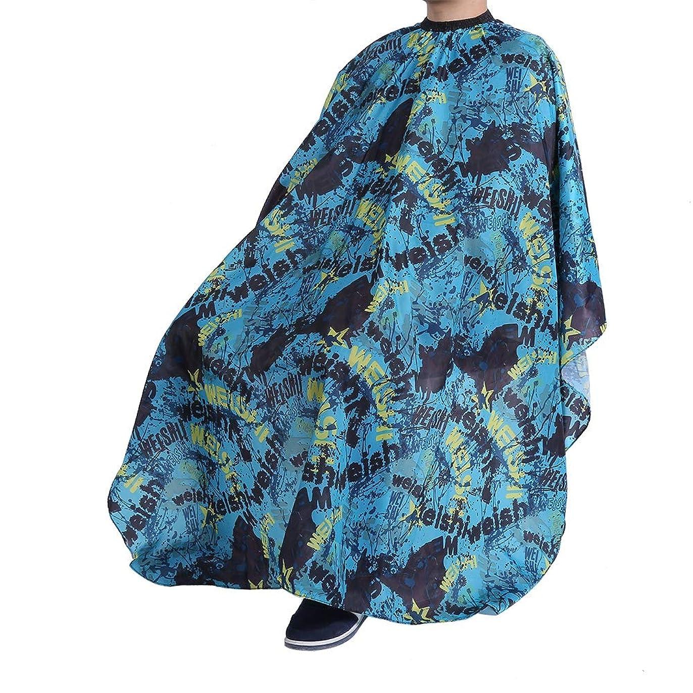 下る干渉する踏み台理髪岬エプロンユニセックス-3パターン-防水(ブルースクロール)