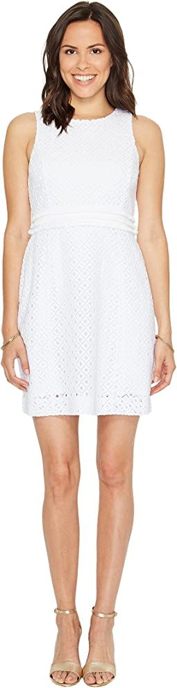 Resort White Lattice All Over Knit Lace