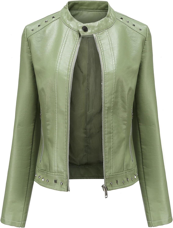 Euone_Clothes online shop Jackets for Women Leather Sh Outlet SALE Zipper Fashion