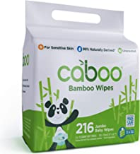 Caboo Tree-Free Bamboo Baby Wipes, Eco-Friendly Naturally Derived Baby Wipes for Sensitive Skin, 3 Resealable Peel Tab Tra...