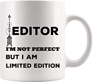 Perfect Limited Editor Mug Coffee Cup Editors Mugs - Photo Video Film Audio Sound Chief Editing Funny Gift for Men Women