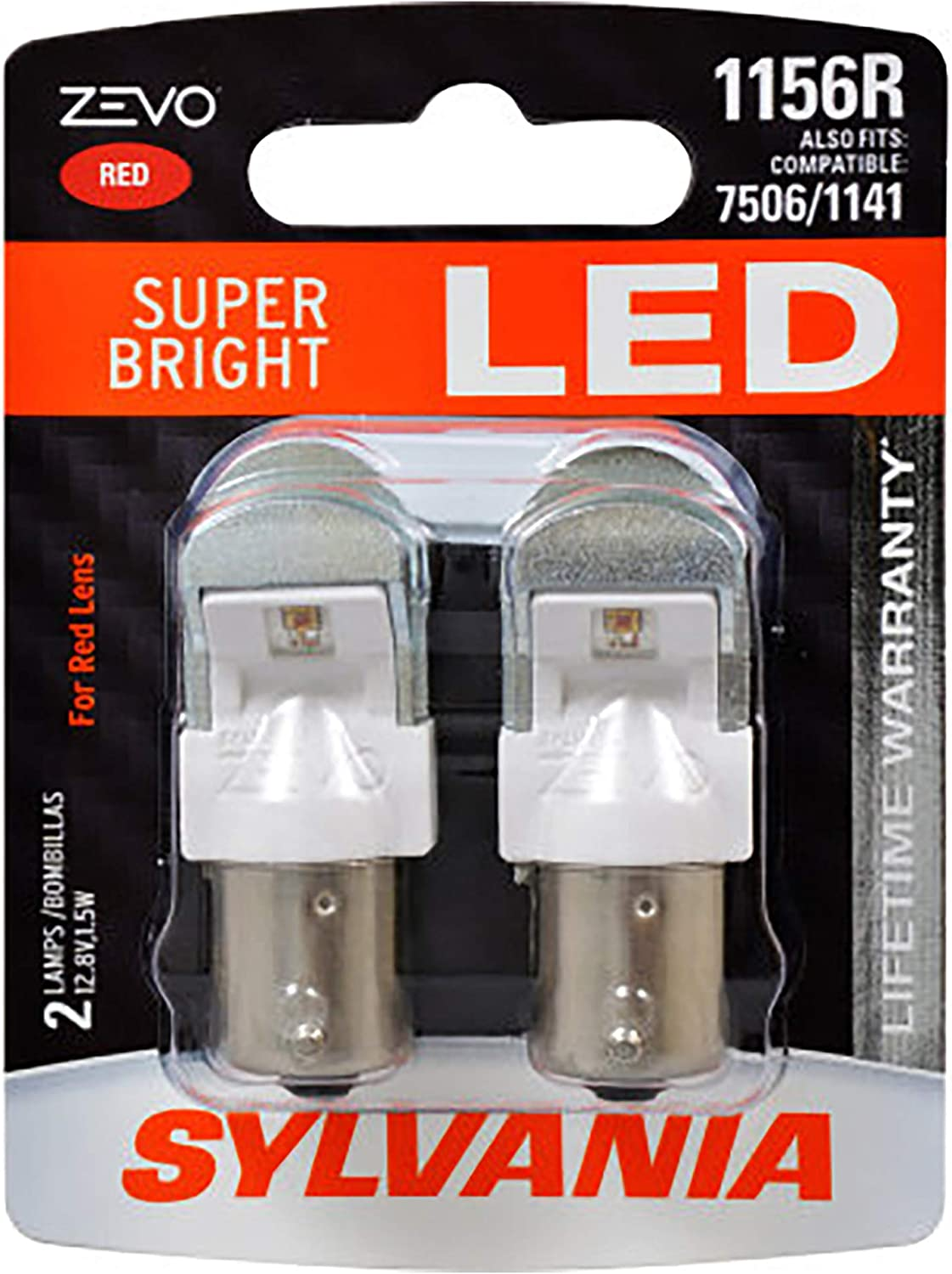 Tail Lights SYLVANIA Bright LED Bulb Contains 2 Bulbs 1156 LED Red ...