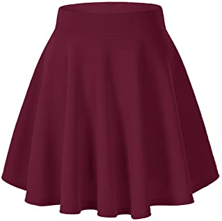 c6efd762ae Urban CoCo Women's Basic Versatile Stretchy Flared Casual Mini Skater Skirt