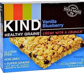 Kind Bar Granola Bars Vanilla Blueberry, 1.2-ounce Bars, 5 Bars per Box, Pack of 8 Boxes (Total 40 Bars)