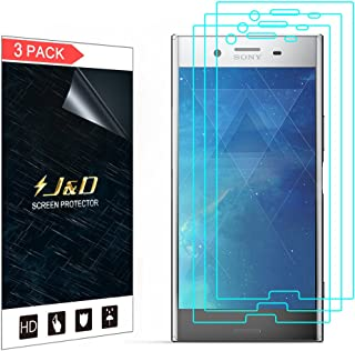 J&D Compatible for 3-Pack Xperia XZ Premium Screen Protector, [Not Full Coverage] Premium HD Clear Film Shield Screen Protector for Sony Xperia XZ Premium Crystal Clear Screen Protector