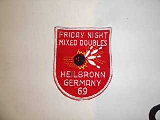 Military Patch Older German Made Bowling Germany Heilbronn 1969 Mixed Doubles