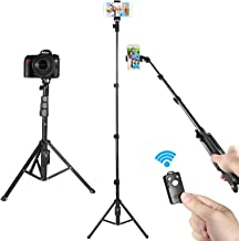 Selfie Stick Tripod, Kamisafe 51 Inch Extendable Cell Phone Tripod with Wireless Remote Compatible for iPhone Samsung Android Phones Compact Camera, Heavy Duty Aluminum, Lightweight
