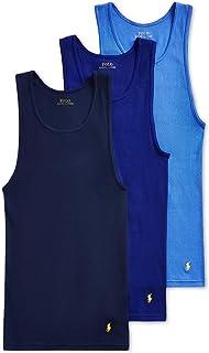 Polo Ralph Lauren Men`s Classic Fit Cotton Ribbed Tanks 3 Pack