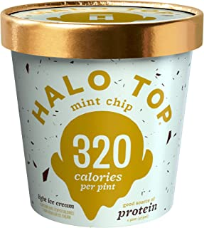 Halo Top Light Ice Cream, Mint Chip, 16 oz (Frozen)