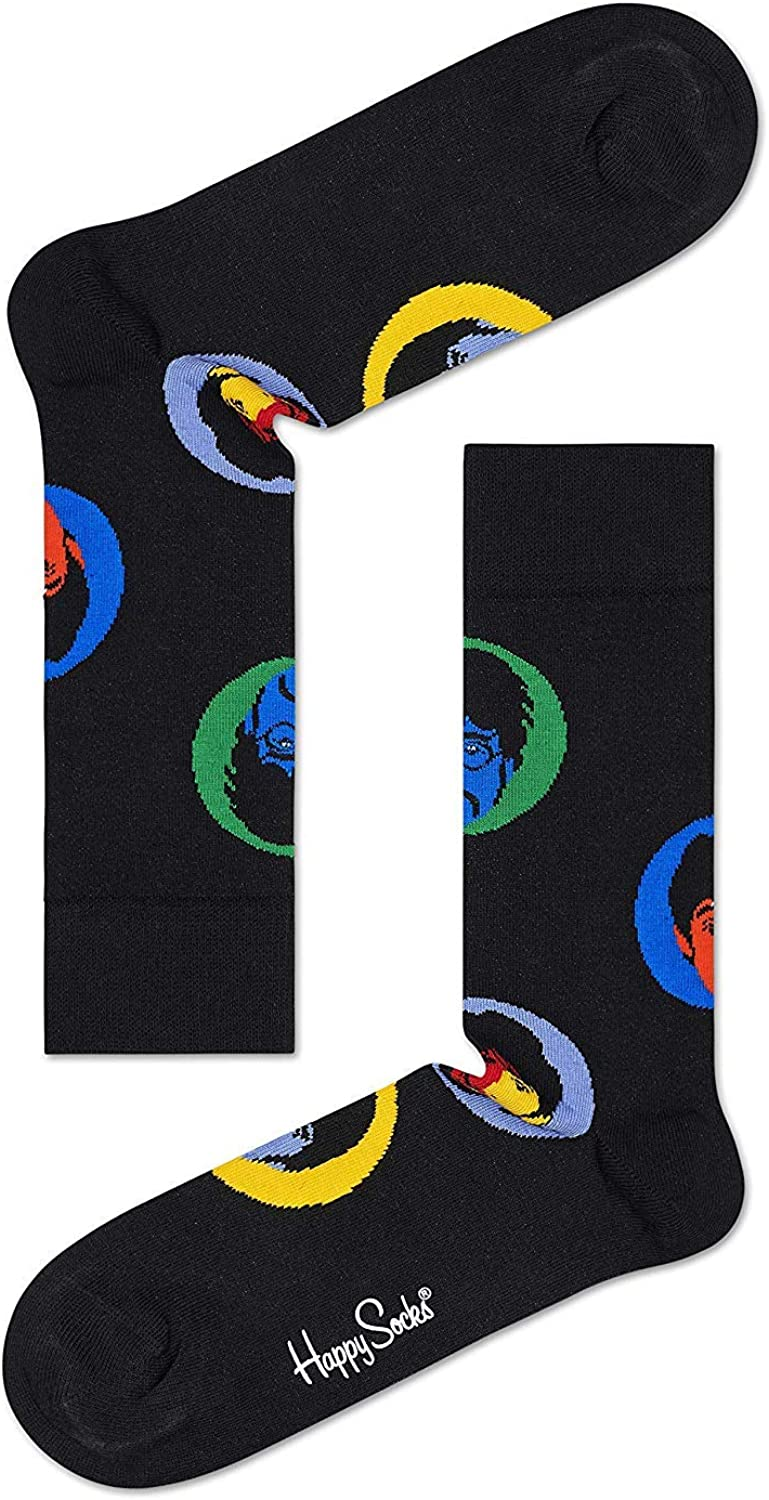 3 Pair Happy Socks Unisex The Beatles Limited Edition multi-color Submarine EP Collectors Box