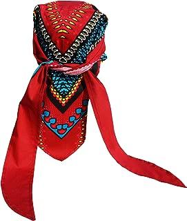 RaanPahMuang African Dashiki Cotton Pirates Chefs Hairtie Bandanna Tied Cap