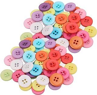 Botão de cor, resina ecologicamente correta Use facilmente 4 furos botões de resina para costura de roupas(18 MM (4 olhos))