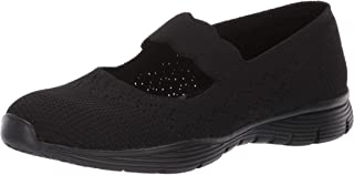 Skechers Women's Seager-Power Hitter-Engineered Knit Mary Jane Flat