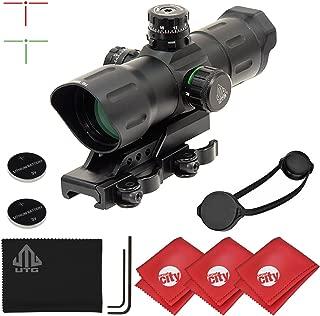 UTG 6-Inch 1x39 ITA Red/Green CQB T-Dot Rifle Sight with Offset QD Mount + Microfibers (SCP-TDTDQ)