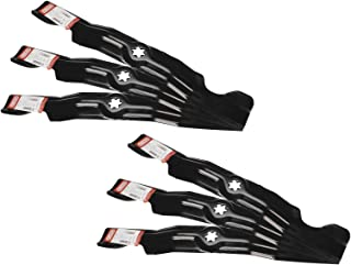 6 Pack Oregon Lawn Mower Blades Fit Cub Cadet 742-04053 942-04053 490-110-C123 490-110-M126 3 Blades For 50