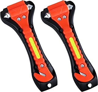 VicTsing 2 Pack Car Safety Hammer, Emergency Escape Tool with Car Window Breaker and Seat..