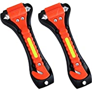 VicTsing 2 Pack Safety Hammer, Emergency Escape Tool with Car Window Breaker and Seat Belt...