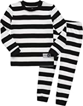 Vaenait Baby 12M-7T Kids Little Boys Girls Unisex Toddler Colorful Stripe/Simple Sleepwear Pajama 2pcs Set