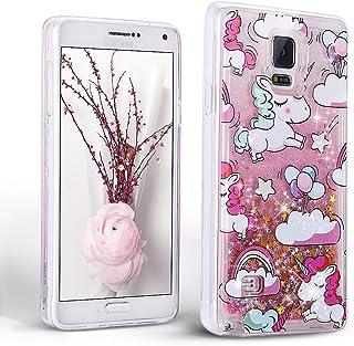 Mosoris Funda para Samsung Galaxy Note 4 Carcasa, 3D Bling Glitter Líquido Brillar Silicona TPU Cubierta Anti Arañazos Tapa Choque Absorción Cubierta Caja Cristal Sparkle Protección Flexible Caso