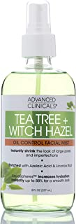 Tea Tree + Witch Hazel Oil Control, Skin Refreshing, Hydrating Face Mist Spray, Non-Greasy Facial mist with Tea Tree Oil to Minimize the Look of Skins Imperfections by Advanced Clinicals, 8 oz.