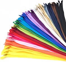 40PCS Nylon Invisible Zipper Tailor DIY Sewing Tools for Garment/Bags/Home Textile-20 Colors(9 inch, Mix Color)