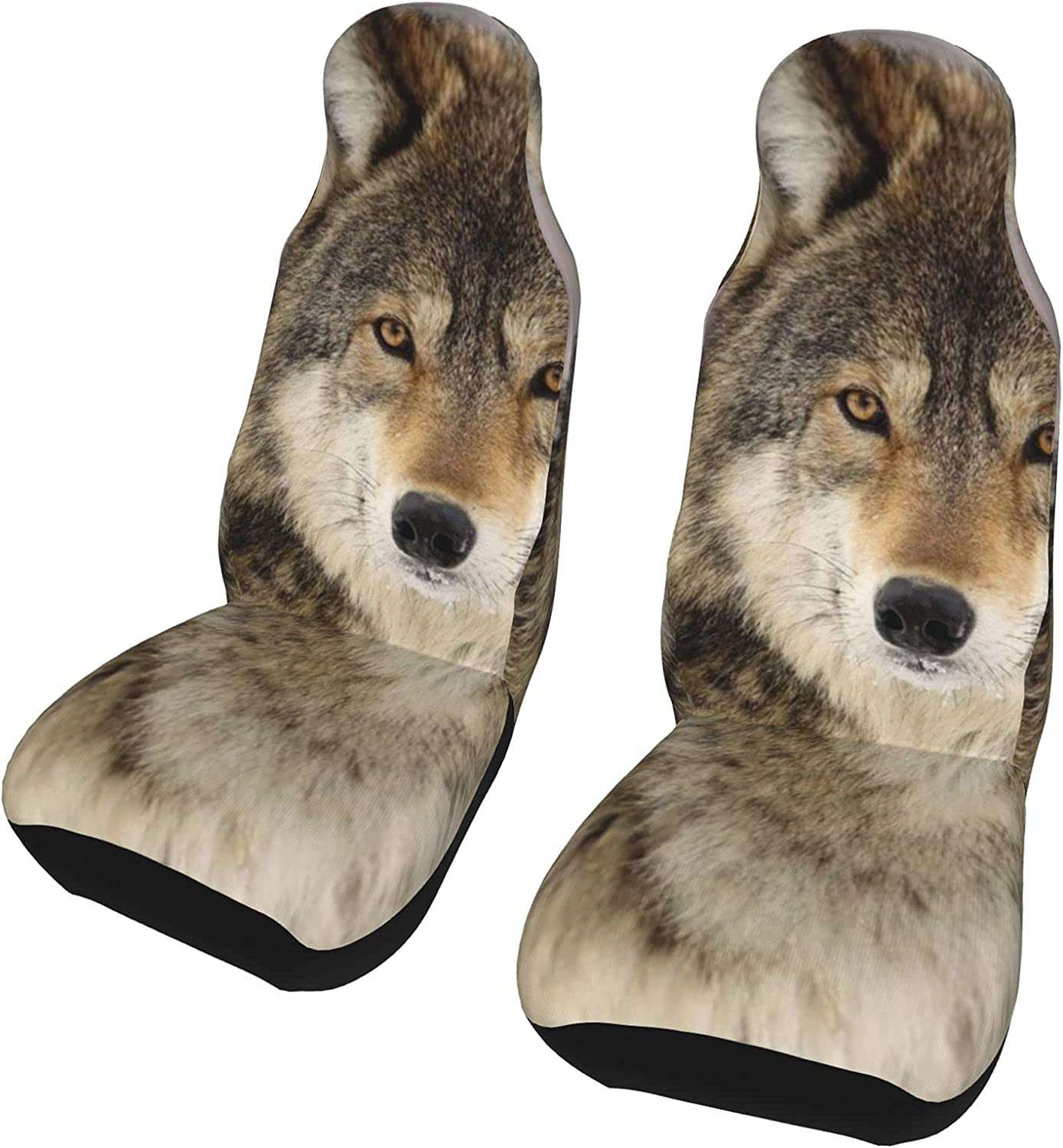 List price Qusnion Car Seat Covers Front Seats Pack U Wolf 2 New item Cover