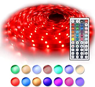 BAILONGJU Led Strip Lights 32.8ft (Continuous 10 Meters/roll), 5050 RGB Color Changing Strip Lights with 44 Keys IR Remote...