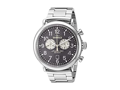 Shinola Detroit 47 mm Runwell Chrono (Cool Gray/Silver Bracelet) Watches