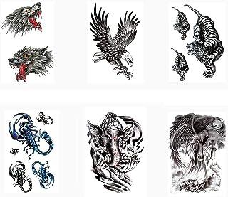 Pinkiou Henna Tattoo Stickers Lace Mehendi Temporary Tattoos for Maverick Women Teens Girls Metallic Tattooing Pack of 6 (...