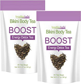 Bikini Body Boost - Best Daytime Energy & Detox Tea on Amazon - Boosts Metabolism, Cleanses, and Shrinks Love Handles (2 Boxes)