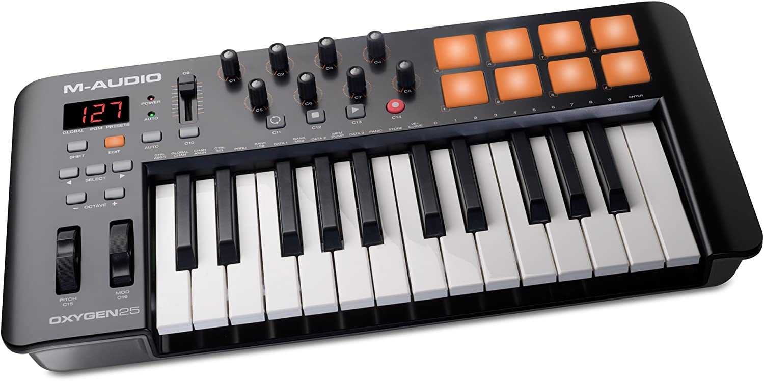 M-Audio Oxygen 25 IV USB Manufacturer Shipping included regenerated product Keyboard and Feat Pad MIDI Controller