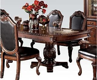 Acme Furniture 04075 Chateau De Ville Dining Table w/Double Pedestal, Cherry
