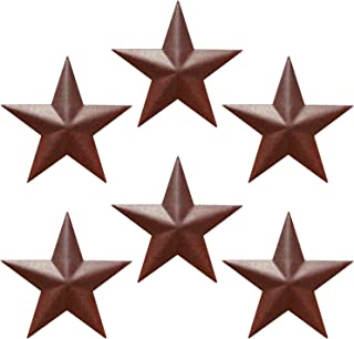 """Best Barn Star - Metal Stars for Outside Texas Stars Art Rustic Vintage Western Country Home Farmhouse Wall Decor (5"""" (Pack of 6)) Review"""