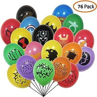 Superhero Party Supplies 76 Pack Superhero Balloons 12