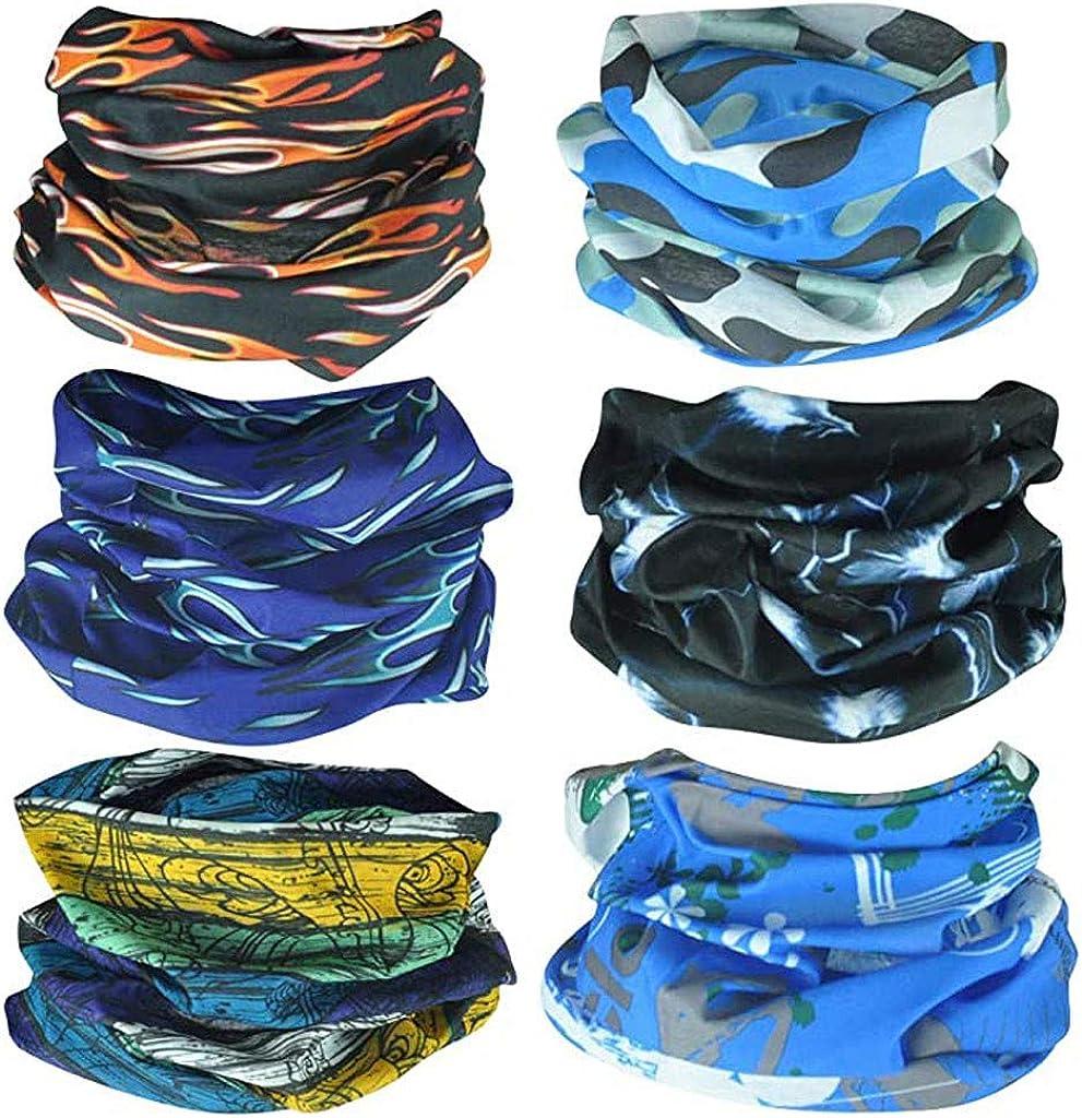 ZEFOTIM Microfiber Bandanas Sun Protection Turban,Neck Gaiters For Women Men,Multifunctional Headband,Outdoor Magic Scarf