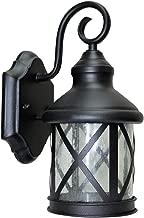 LED Outdoor Wall Lantern Light, Black, 9 Watts (60w Equivalent), 120V, 400 Lumens, Soft White 3000K, Waterproof, Rust Resistant, RoHS Compliant, ETL Listed, Energy Star