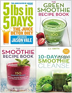 5Lbs in 5 days, 10-day green smoothie cleanse, green smoothie recipe book 4 books collection set