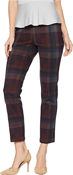 Sophia Plaid Print Ankle Pants