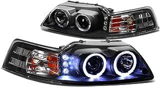 DNA Motoring HL-HPL-LED-FM99-BK-AM Headlight Assembly, Driver and Passenger Side