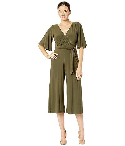 Adrianna Papell Jersey Kimono Jumpsuit (Olive Shadow) Women