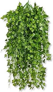 MedianField 【 観葉植物 アイビー 10本 】 壁掛け インテリア アンティーク 雑貨 造花 人工 フェイク 壁掛 グリーン 緑 植物 吊り (10本)