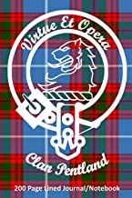 Clan Pentland 200 Page Lined Journal/Notebook