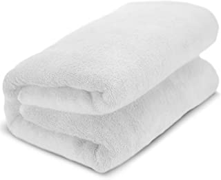 Towel Bazaar 100% Turkish Cotton Multipurpose Towels-Large Bath Sheet/Beach Towel/Bath Towel, Eco-Friendly (Oversized 40x80 inches, White)